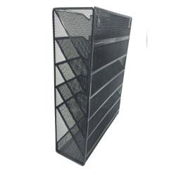 China suppliers wholesale manufacturer document desk desktop Black wire mesh metal hanging office wall file organizer