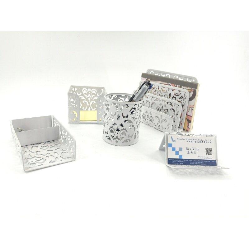 Desk Organizer Memo Tray Pen Cup Modern office table accessories set