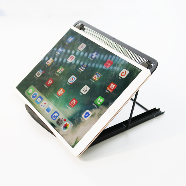 Portable Folding Mesh Table Stand Adjustable  metal Bracket  Laptop holder metal mesh monitor stand holder