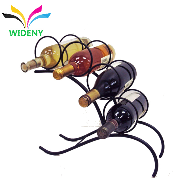 stainless steel wine bottle stand  syrup Racks Bar counter storage metal wire beer holder