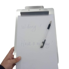 Manufacture Direct Sale Aluminum Dual Storage Case Foldable Medical Nursing Custom Logo Clipboard with clip board Clips