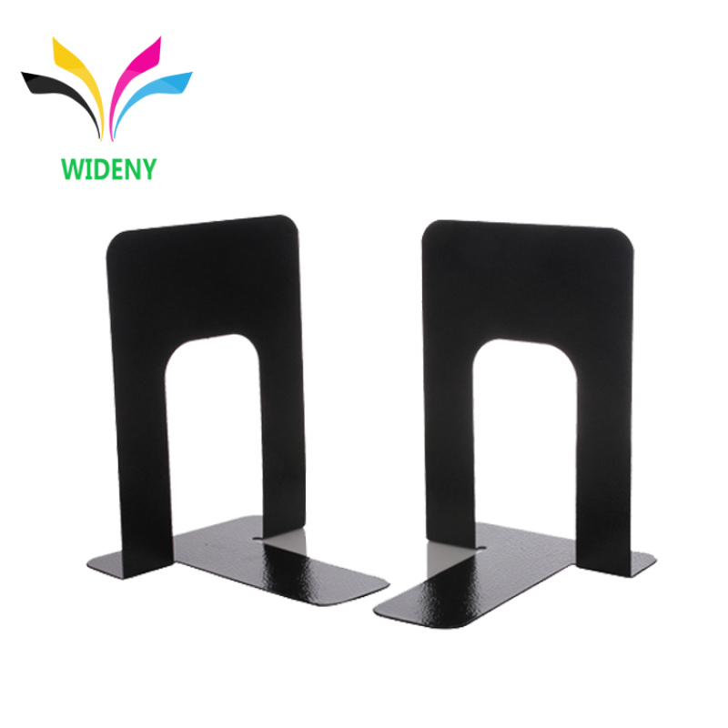 wholesale supply home office library adjustable custom black non folding counter Colorful metal wire iron decorative  bookend