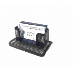 desktop name card display metal mesh business card stand
