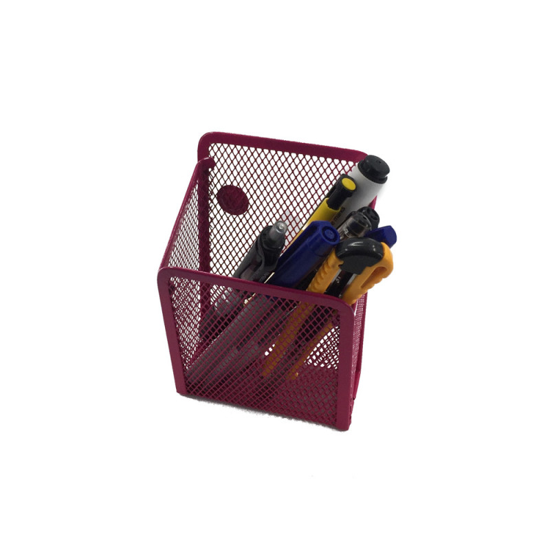 WIDENY Wholesale Small Metal Mesh For Office Storage Fridge Whiteboard Magnetic Pencil Magnetic Pen Holder