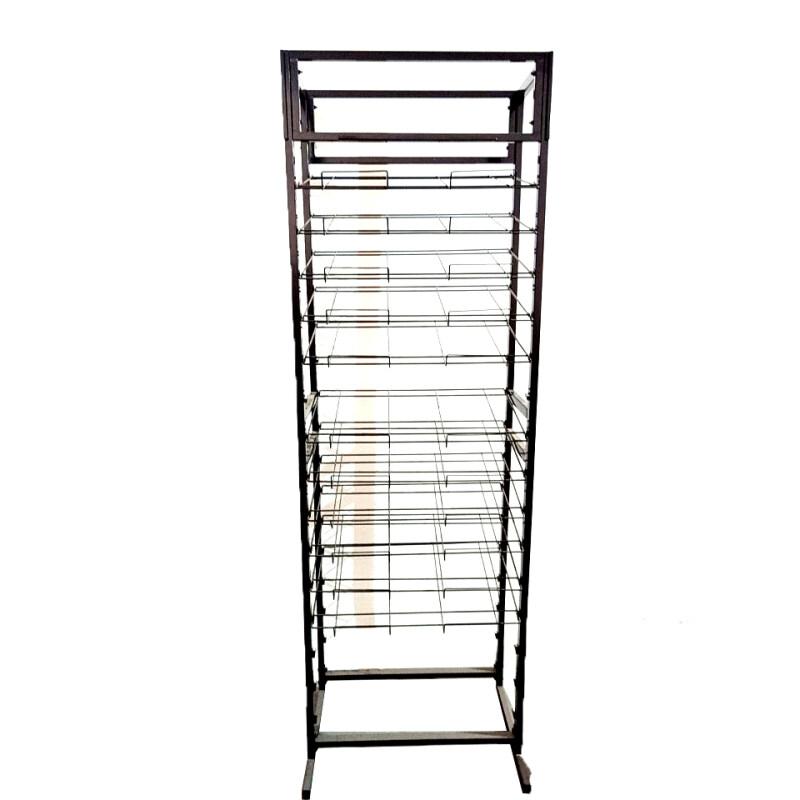 Custom Wholesale 5 Layers Floor Stand  Newspaper book Eyeglass Stand Display food Stand Display Racks metal Display Rack