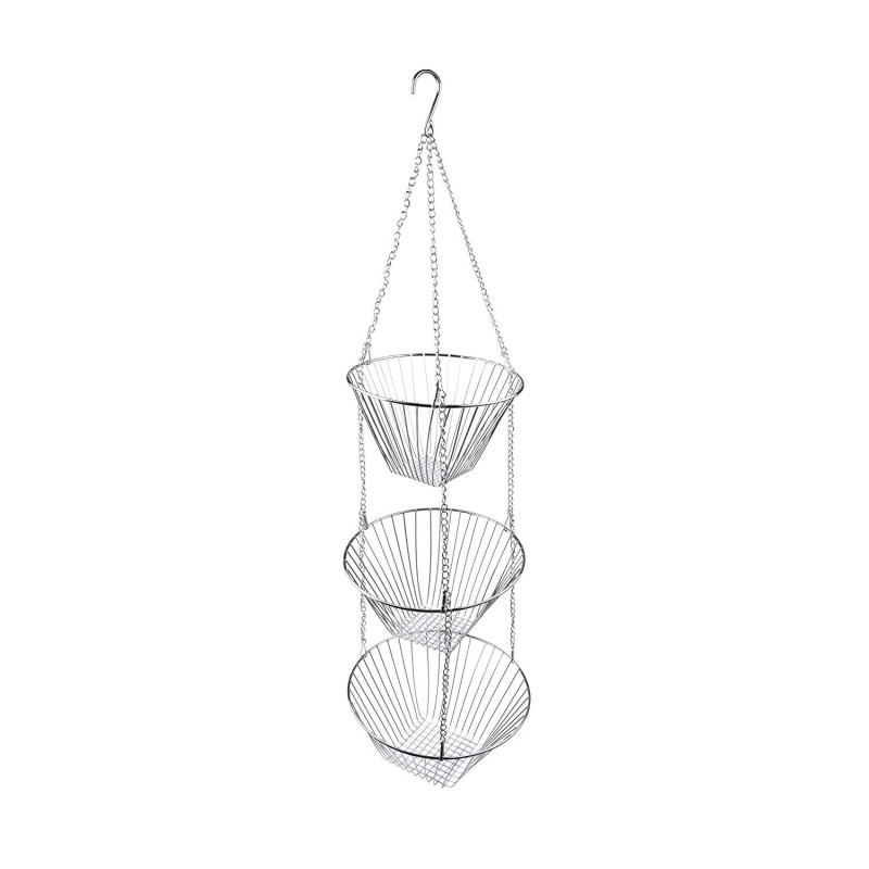 home kitchen table round stainless steel metal wire storage fruit basket for holder