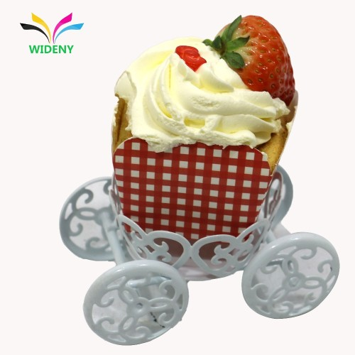 Amazon Hot Selling Party Decorative White Metal Mini Cupcake Stand