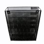Amazon hot sale office stationery mesh 5 tier wall file organizer with clip holder