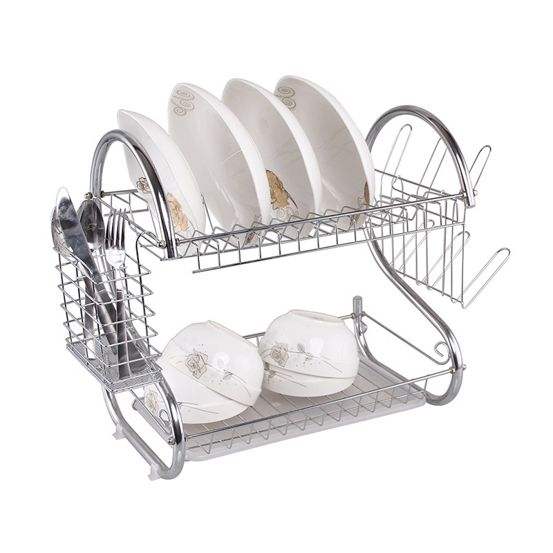 Expandable Tableware Dinnerware Storage Holder Rustproof Stainless Steel Dish Drying Rack for Cabinets