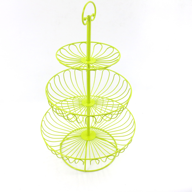 wholesale  Amazon Hot Sell Collapsible hanging decorative bowl stand metal 3 tier fruit basket