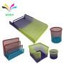gradient color desktopstationery sets pen holder letter stand Set of 5  Metal Mesh office supplies desk organizer