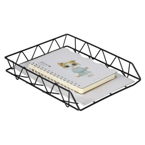 office&school supplies metal black  desk organizer A4 file tray 1 tiers/2 tiers