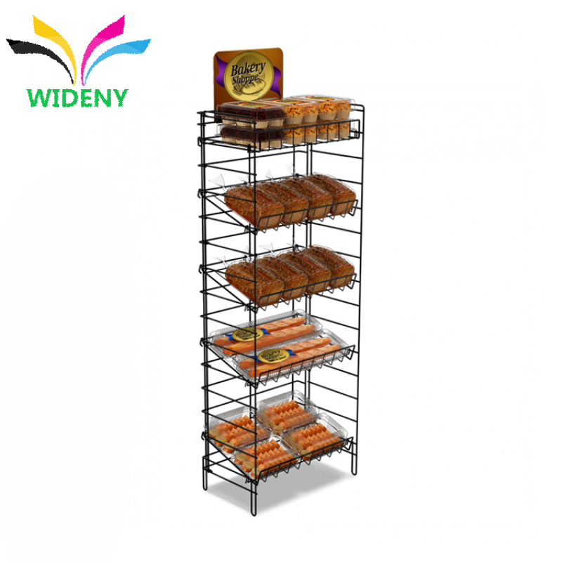 wholesale supply metal wire iron Daily use department snacks store fruit vegetable storage display supermarket rack