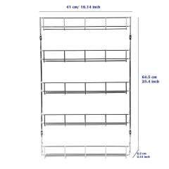 Kitchen cabinet storage metal steel wall mounted hanging wire spice rack organizer for herb jar holder shelf