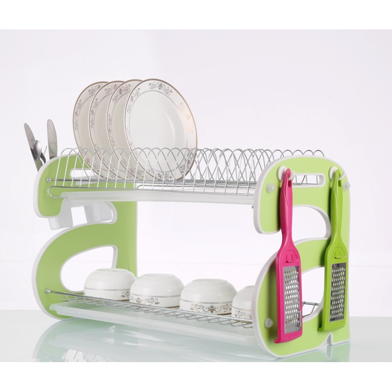 Multipurpose High Quality Removable Pull Down Cabinet Dryer Drainer Tray Plate Cup Storage Dish Rack with Cover