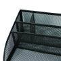 Amazon Hot Sale Multifunctional Stationery Set Simple Free Metal Mesh Black White Blue Office Desk Organizers