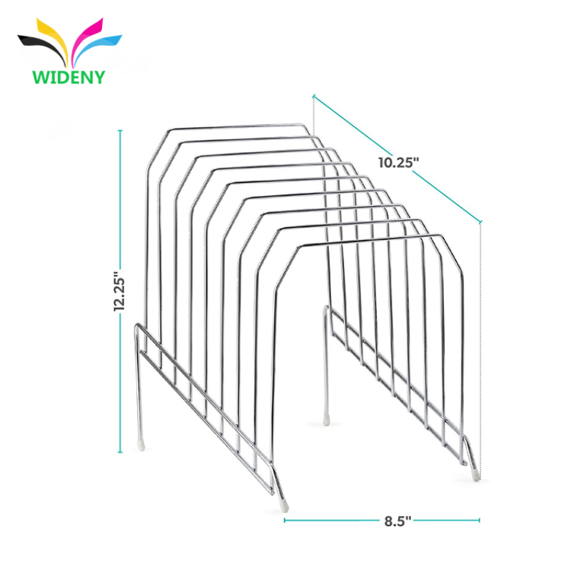 Wholesale customization of high quality black 2 Tier Wire Magazine Rack holder rack display