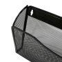 Office Supplies Black 3 Pocket Office Metal Mesh Wall Mount Hanging Wall Mounted File Holder Organizer