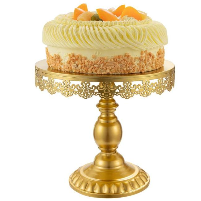 Birthday party decoration wedding cake display holder serving platter dessert trays round gold cupcake stand