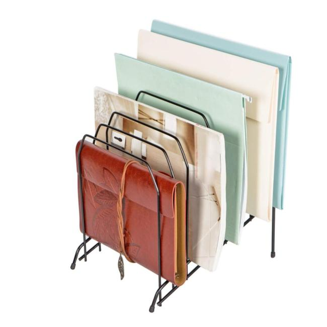 Wire Collection Office Mesh 8 Compartments Incline Desktop Metal Incline File Sorter Magazine File Organizer