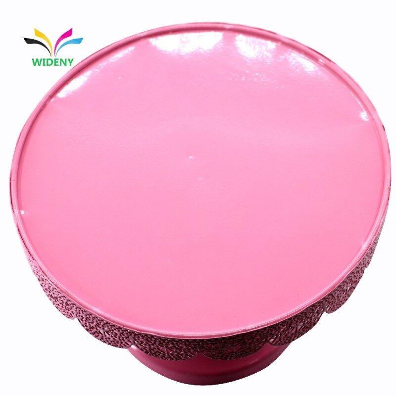 China Wholesale Supplies Cake Set Rotating Round Pink Metal Iron Wedding Cup Cake Stand For Hanging Cupcake