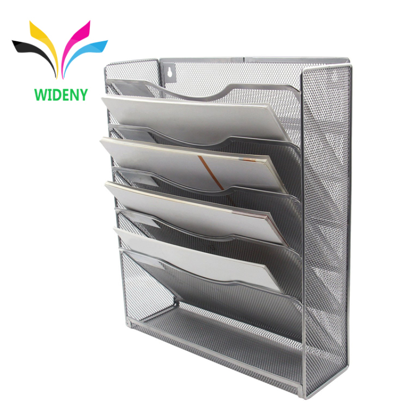 Wideny Office supplies school home household wire metal mesh wall mounted hanging file document wall organizer