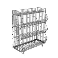 Supermarket supplies made in china metal wire multipurpose vegetavle sancks fruit store supermarket shelf