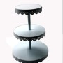3 tier foldable wedding decorative white metal fancy individual mini candy cup cake cupcake stand