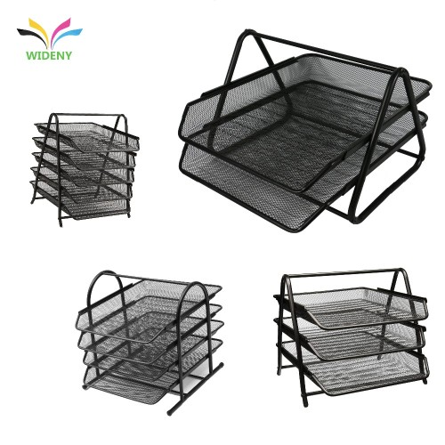 2019 amazon top seller mesh Wholesale file folder desk organizer mesh wall stackable file organizer