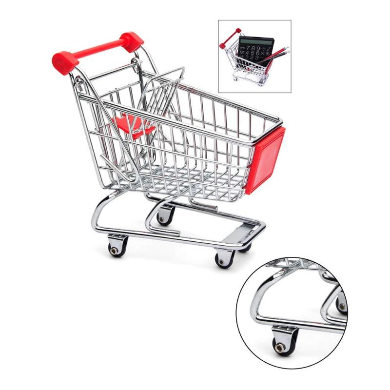 High Quality Wholesale Chip Double Aluminum Mini Grocery Collapsible Supermarket Basket Baby Shopping Cart
