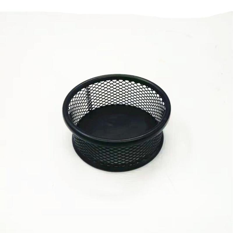 Wideny powder coated custom design logo package office stationery wire mesh metal desktop organizer paper clip holder