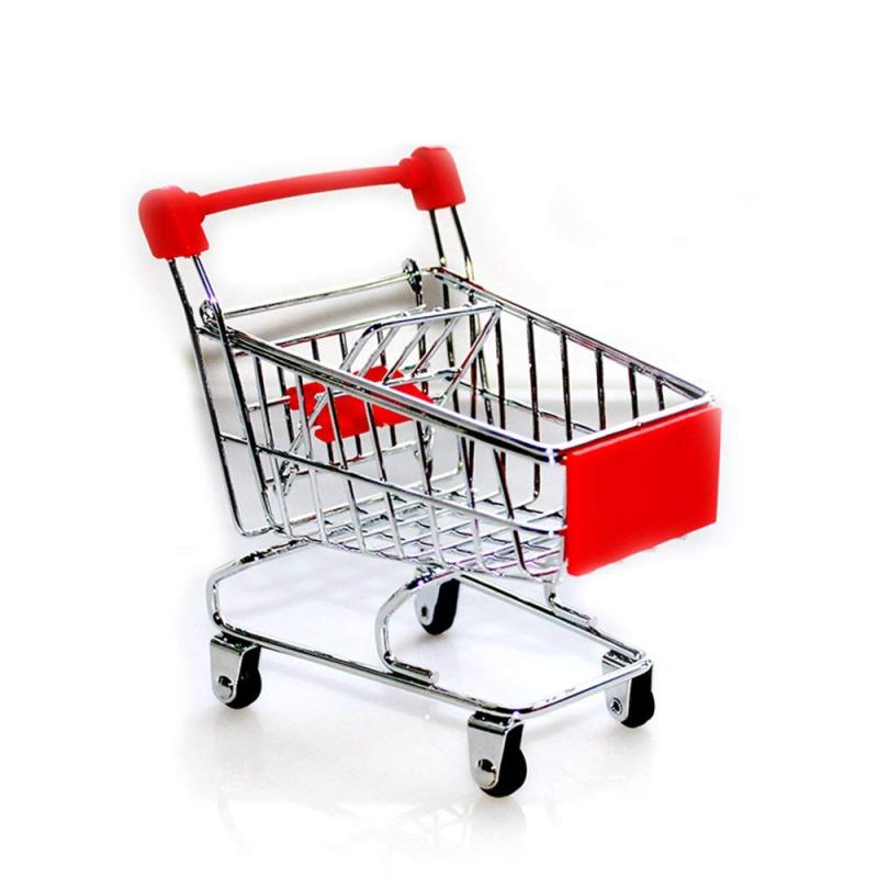 wholesale small baby mini metal foldable folding stainless steel trolley shopping cart with wheels rubber