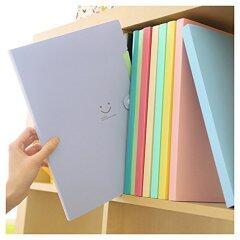 candy color clear pp a4 size book expanding portfolio classification file folder