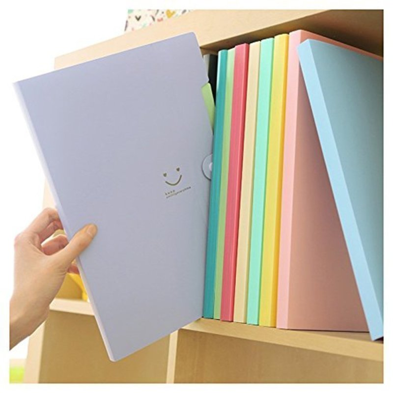 candy color clear pp a4 size book expanding portfolio classification file folder