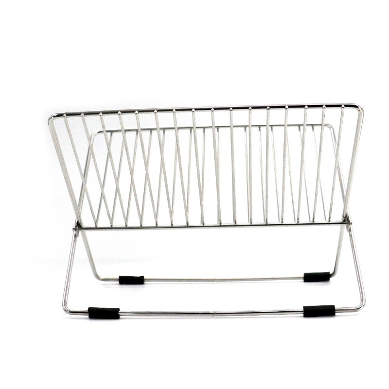 chinese supplier kitchen 2 tier folding  stainless steel dish drainer for silicone dish drainer