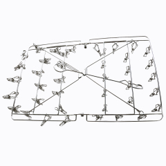 Manufacturer Wholesale High Quality non slip 201 stainless steel clothes hanger With 40 Clips