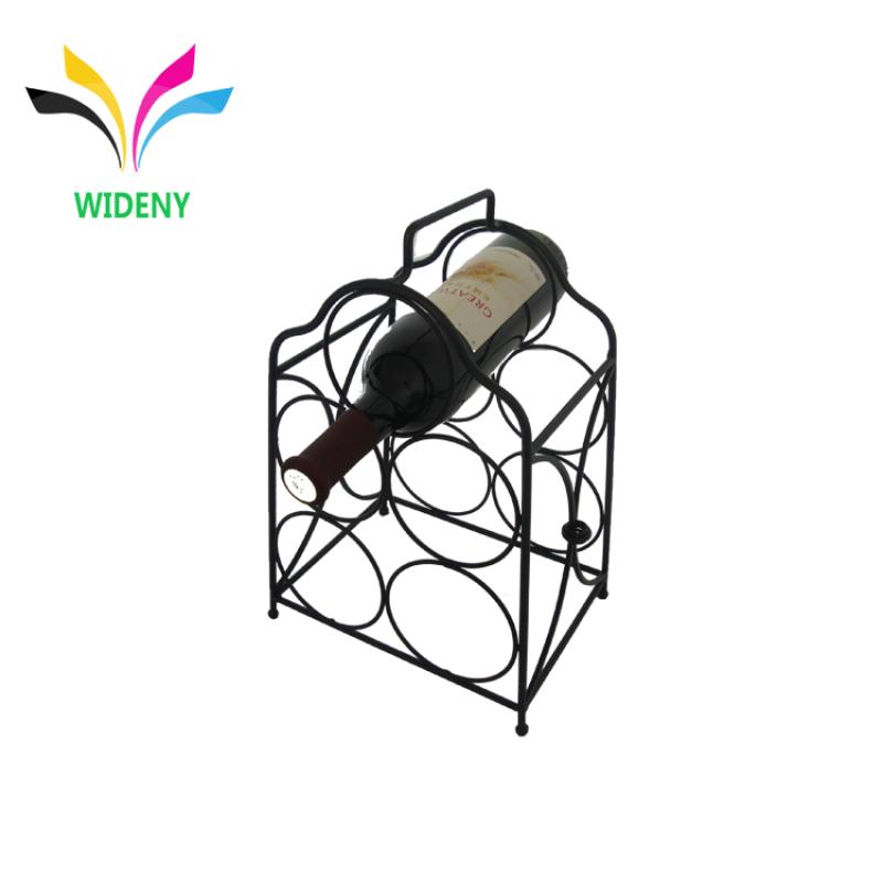 Home kitchen Storage Bar Display Rack Customized Wholesale Supermarket Supply Powder Coated Countertop Wine Rack