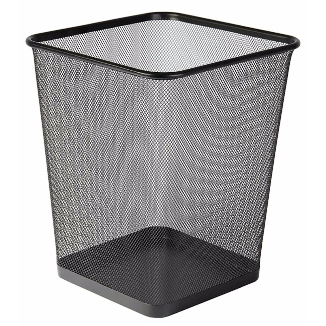Office metal Black mesh trash can paper waste trash bin