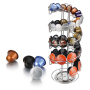 Cafes Customized Rotatable Multi-functional Stainless Steel Assortment Capsule Holder for Coffee