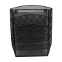 Office supplies 6 Compartments Black Metal Mesh Literature Rack Wall Mounted File Holder Organizer