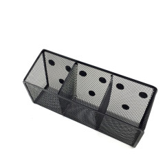 Magnet Pen Organizer of 3 lattice Metal Wire Mesh magnetic magnet pencil pen holder