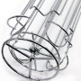 Round Bottom 4 Sides Revolving Table Top Metal Wire Display Storage Dolce Gusto Coffee Capsule Holder With Chrome Plate