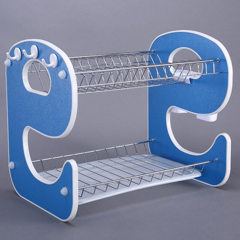 New Design 2 Tier A Shape Dish Drainer Rack Holder Stainless Steel Kitchen Sink Dish Rack