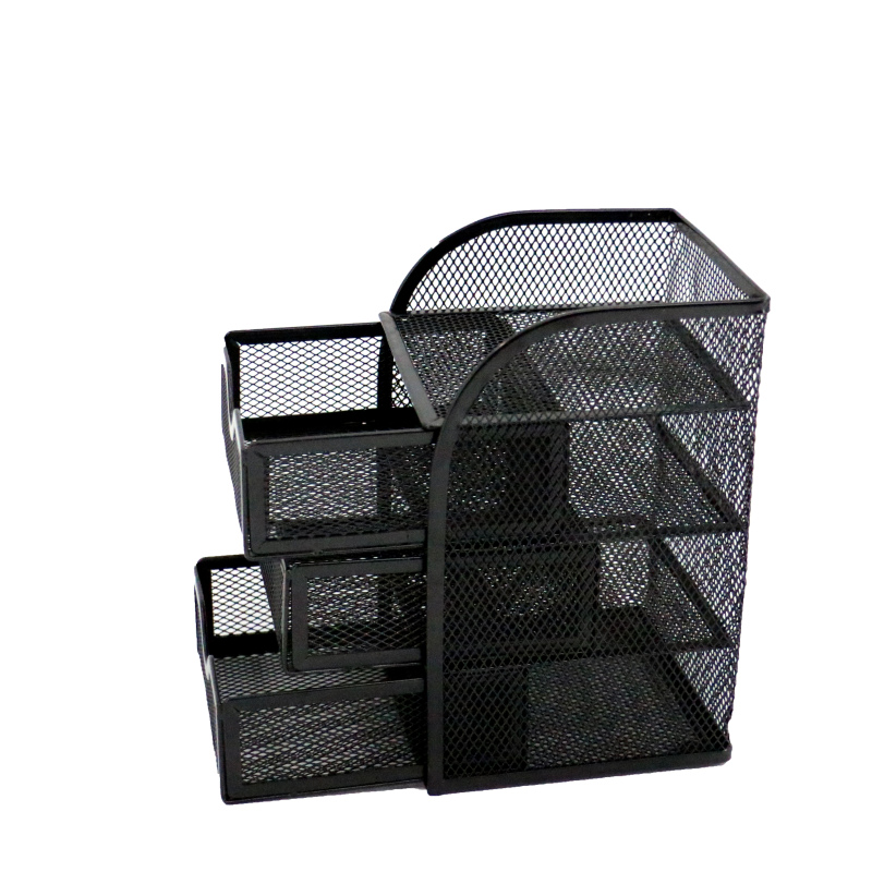 mesh wall mounted file holder desktop document tray metal desk organizer