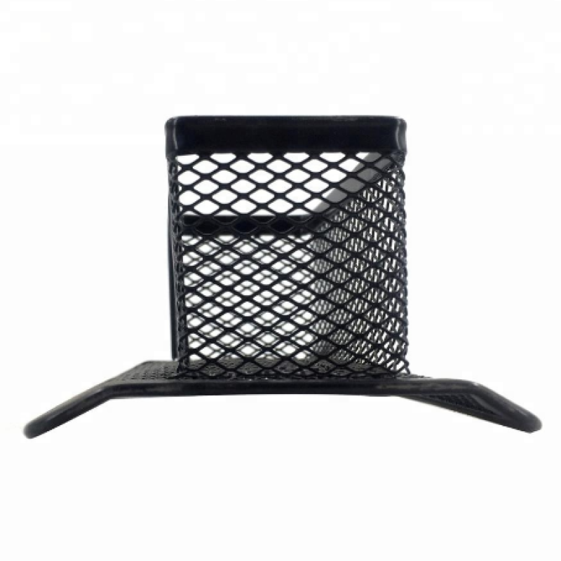 desktop name card display metal mesh business card stand