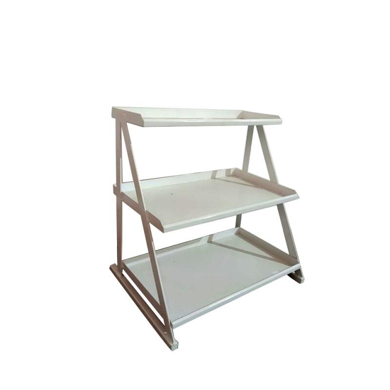 Storage basket tray Black Wire Rack retail 3 tier Display Shelves food display racks