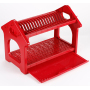 Wholesale 2 tier High quality kitchen  plastic house shape dish drainer drying rack over sink