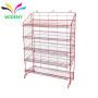 supermarket shelving wire Mesh Back Metal Steel display rack for tea tins craft spinner racks