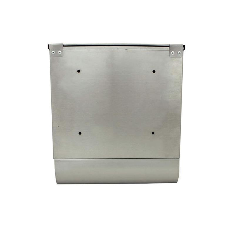 Amazon Hot Sale Modern Waterproof Custom Made Stainless Steel Post Mounted Solar American Door Mailbox