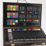 new arrive creativity water color spiral art paint sketching pencil set in wooden case